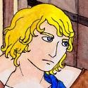"""BD et Paillettes, crossover Contes/N.A.T. !  """" Tu parles pas beaucoup, Gueule d'ange... Pas grave, j'ai plein de choses à te raconter... """"  L'alcool des tavernes de Contes est un peu trop fort pour le bisho blond de N.A.T. !"""